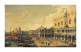 View of the Molo, Venice Premium Giclee Print by Canaletto 