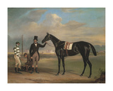 Pussy with his Trainer Old John Day Premium Giclee Print by John Ferneley