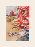 Help! Premium Giclee Print by Percy Hickling