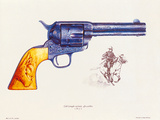 Colt 45 Calibre, 1892 Premium Giclee Print by J. Pritchard