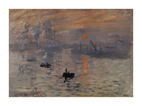 Impression, Soleil Levant Premium Giclee Print by Claude Monet