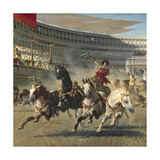 The Chariot Race, Detail Premium Giclee Print by Alexander Von Wagner