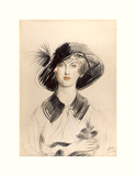 The Black Hat Premium Giclee Print by Paul Helleu