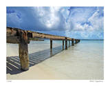 Stocking Island Dock Giclee Print by John Gynell