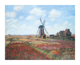 Champs de Tulipes Premium Giclee Print by Claude Monet