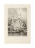 Mosque of Mahmoud II, at Tophana Premium Giclee Print by Thomas Allom