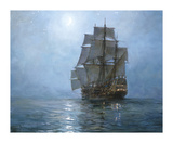 Crescent Moon II Premium Giclee Print by Montague Dawson