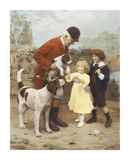 The Huntsman's Pet Premium Giclee Print by Arthur Elsley