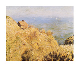 Coastguard&#39;s Cottage Premium Giclee Print by Claude Monet