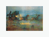 The Night Mail, a Hundred Years Ago Premium Giclee Print by Cecil Aldin