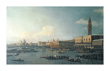 The Basin of San Marco On Ascension Day Premium Giclee Print by Canaletto