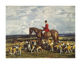 Stanley Barker and the Pytchley Hounds Premium Giclee Print by Sir Alfred Munnings