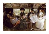 The Bayswater Omnibus, 1895 Premium Giclee Print by George Elgar Hicks