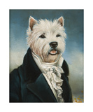 Westie With A Jabot Premium Giclee Print by Thierry Poncelet
