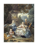 The Family Concert Premium Giclee Print by Francois Hubert Douais