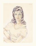 Diana Dors Premium Giclee Print by Boris Smirnoff