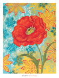 Sunset Poppy Poster by Kate Birch