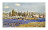 The Seine at Vetheuil Premium Giclee Print by Claude Monet