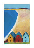 Three Beach Cabanas Giclee Print by Gale McKee