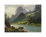 Rocky Mountains Premium Giclee Print by Albert Bierstadt