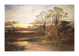 Evening Approaches Premium Giclee Print by Benjamin Leader