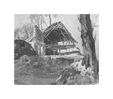 The Ruined Barn Premium Giclee Print by Sir Alfred Munnings