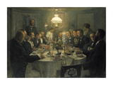 The Artists' Gathering Premium Giclee Print by Viggo Johansen