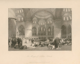 The Mosque of Sultan Achmet Premium Giclee Print by Thomas Allom