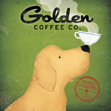 Golden Dog Coffee Co. Poster by Ryan Fowler