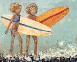 Bikini Surf Print by Rebecca Kinkead