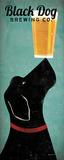 Black Dog bryggeri, på engelsk Plakat av Ryan Fowler