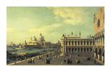 View of the Molo Towards the Grand Canal, Venice Premium Giclee Print by Canaletto