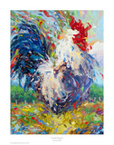Confetti Rooster Prints by Larry Dyke