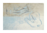 Two Figures by the Sea Premium Giclee Print by Barbara Hepworth