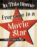 In This Home Everyone is a Star Print by  Pela