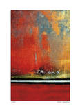 Crimson Evening Surf Giclee Print by Luann Ostergaard