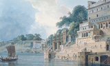 Dasasvamedha Ghat Premium Giclee Print by Thomas & William Daniell