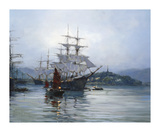 Pagoda Anchorage II Premium Giclee Print by Montague Dawson