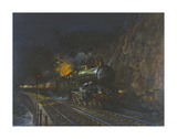 Night Express Premium Giclee Print by Terence Cuneo
