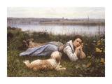 Reverie, 1866 Premium Giclee Print by Daniel Ridgeway Knight