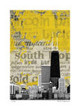 Chicago Neighborhoods Giclee Print by M.J. Lew