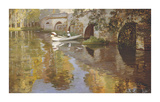 The Bridge at Grez, 1900 Premium Giclee Print by Sir John Lavery