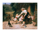 The Dancing Bear Premium Giclee Print by Frederick Morgan