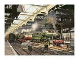 Albert Hall, Snow Hill Station Premium Giclee Print by Terence Cuneo