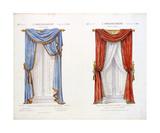 Décor de Croisee Drapee, Sur Baton Premium Giclee Print by D. Guilmard