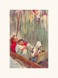 Moses in the Bullrushes Premium Giclee Print by Lawson Wood