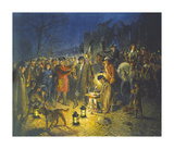 Raising the Regiment Premium Giclee Print by Terence Cuneo