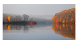 Early Fall Morning at the Lake Prints by Michael Cahill