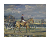 Paul Mellon on Dublin Premium Giclee Print by Sir Alfred Munnings