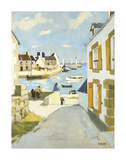 Blue Harbour Premium Giclee Print by Raymond Wintz